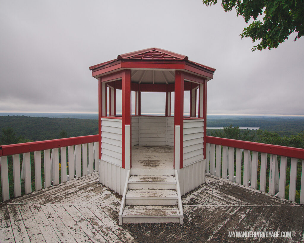Elliot Lake Firetower lookout | Toronto to Thunder Bay: a 10-day Northern Ontario road trip along Lake Superior's spectacular coast | My Wandering Voyage travel blog #LakeSuperior #RoadTrip #Ontario #Canada #travel