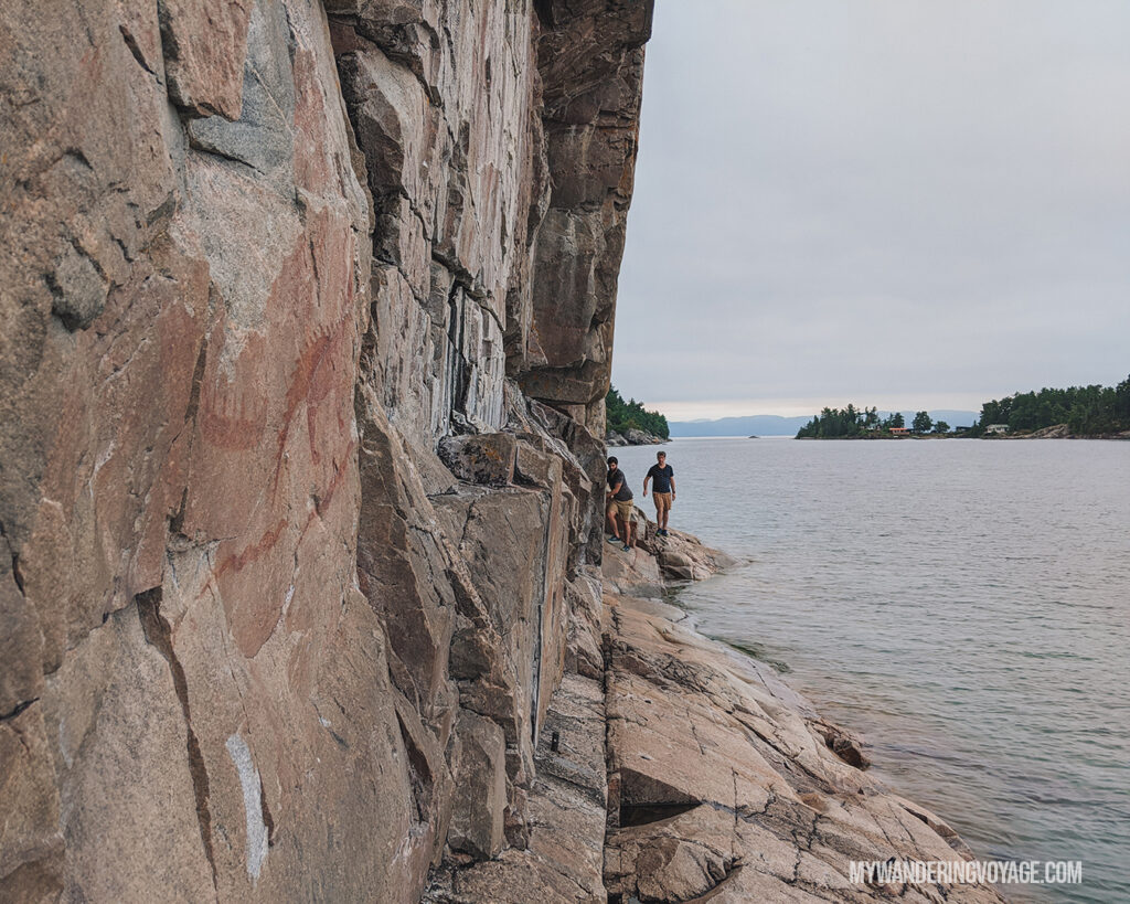 Agawa Rock Pictographs | Toronto to Thunder Bay: a 10-day Northern Ontario road trip along Lake Superior's spectacular coast | My Wandering Voyage travel blog #LakeSuperior #RoadTrip #Ontario #Canada #travel
