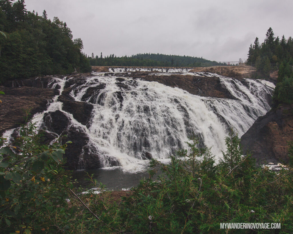 Magpie Falls / Scenic High Falls | Toronto to Thunder Bay: a 10-day Northern Ontario road trip along Lake Superior's spectacular coast | My Wandering Voyage travel blog #LakeSuperior #RoadTrip #Ontario #Canada #travel