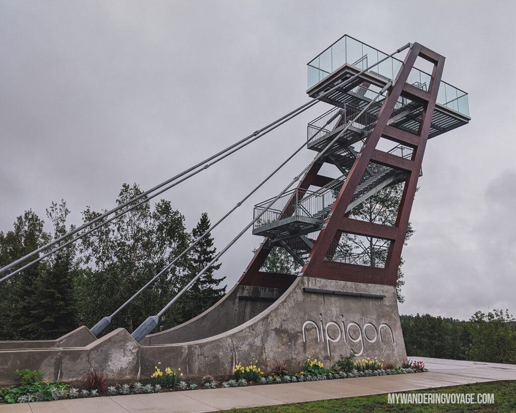 Nipigon Lookout Tower | Toronto to Thunder Bay: a 10-day Northern Ontario road trip along Lake Superior's spectacular coast | My Wandering Voyage travel blog #LakeSuperior #RoadTrip #Ontario #Canada #travel