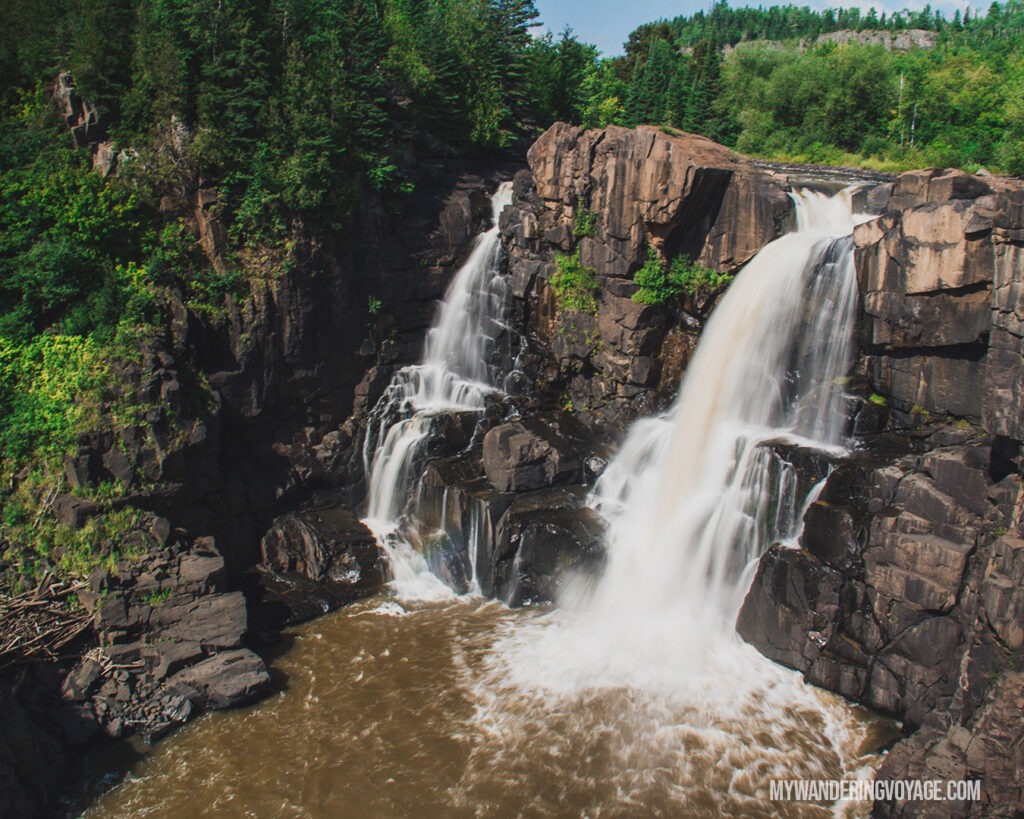 High Falls at Pigeon River Provincial Park | Toronto to Thunder Bay: a 10-day Northern Ontario road trip along Lake Superior's spectacular coast | My Wandering Voyage travel blog #LakeSuperior #RoadTrip #Ontario #Canada #travel