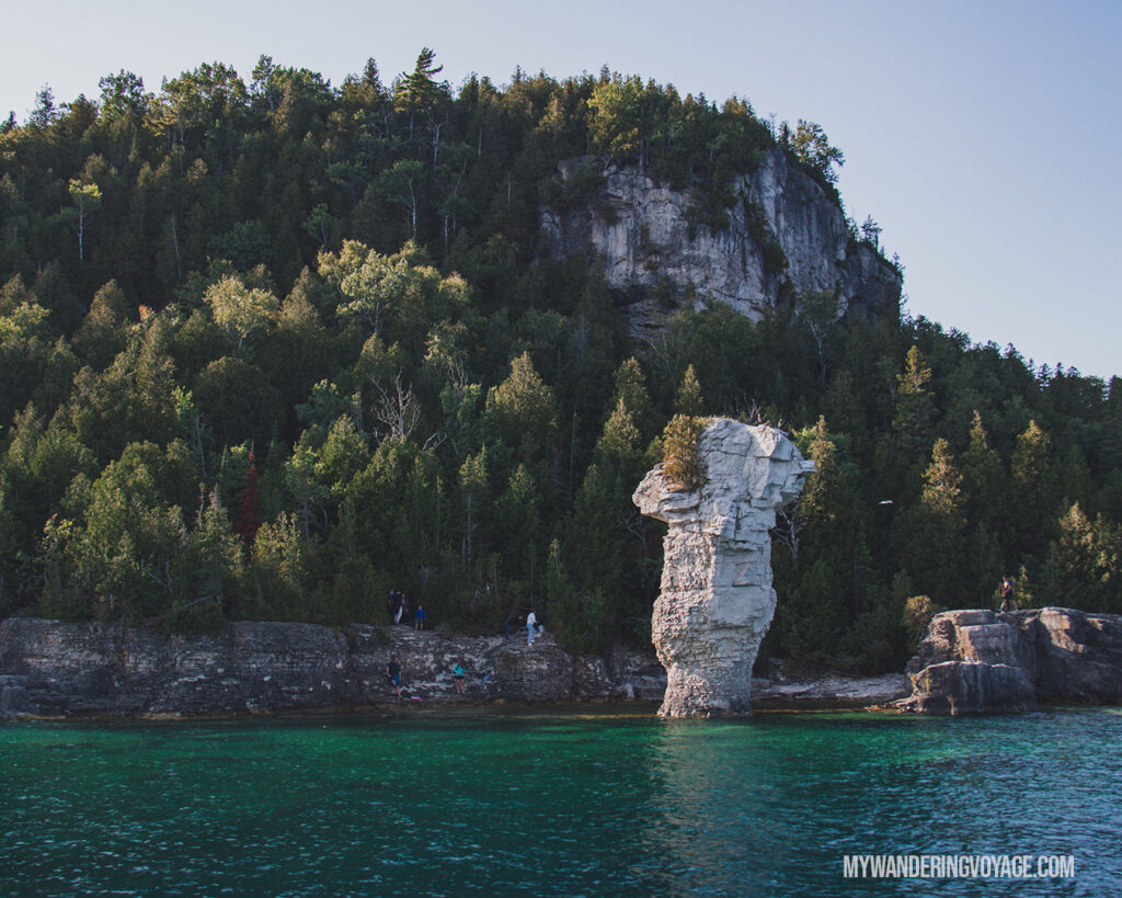 Flowerpot Island cruise |100 Unforgettable Ontario experiences that make the perfect gifts | My Wandering Voyage #Travel Blog #Ontario #GiftIdea #GiftExperiences