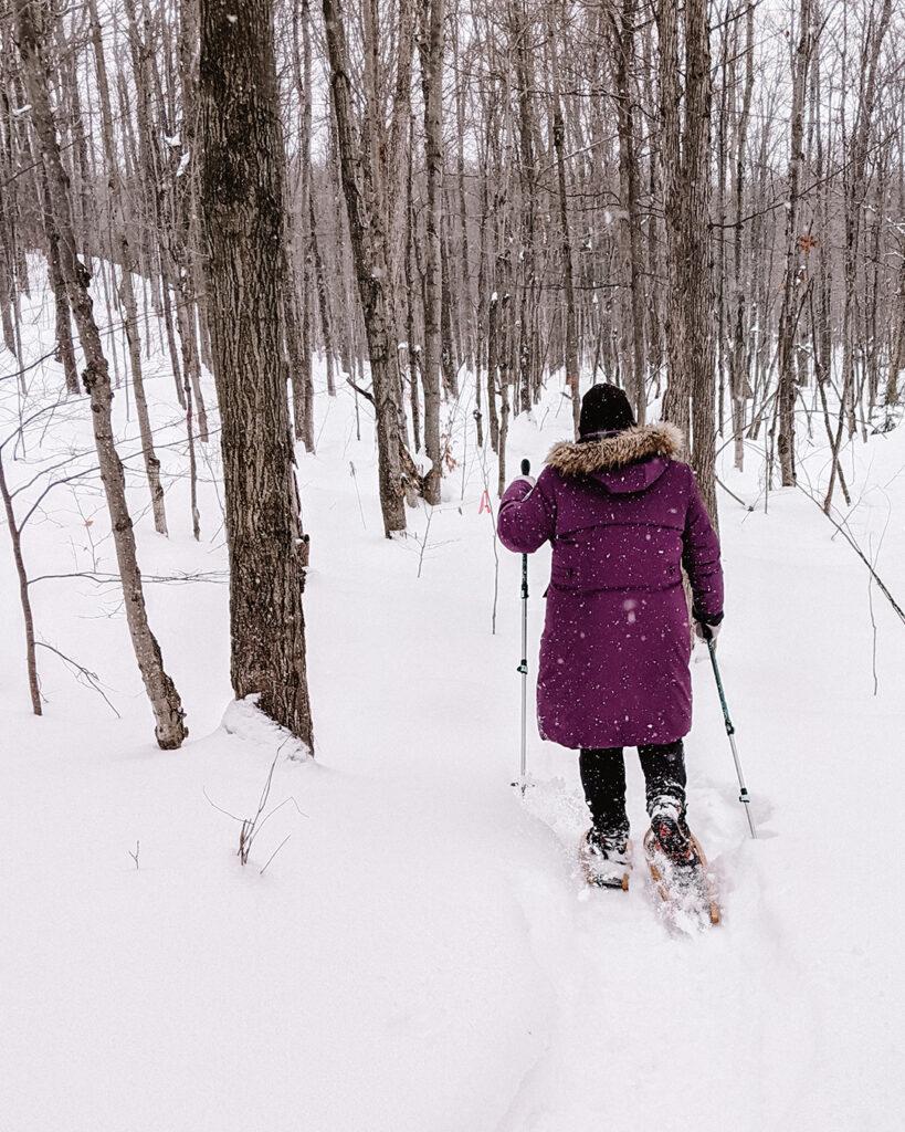 Kolapore Uplands | Stellar places for snowshoeing in Ontario | My Wandering Voyage travel blog #travel #winterexercise #snowshoeing #Ontario #Canada