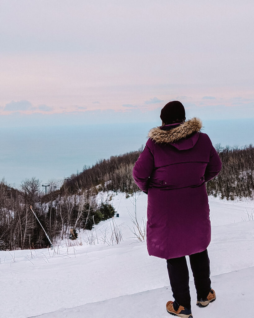 View at Loree Forest | Stellar places for snowshoeing in Ontario | My Wandering Voyage travel blog #travel #winterexercise #snowshoeing #Ontario #Canada