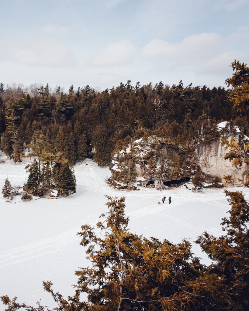 Snowshoeing in Rockwood Conservation Area | Stellar places for snowshoeing in Ontario | My Wandering Voyage travel blog #travel #winterexercise #snowshoeing #Ontario #Canada