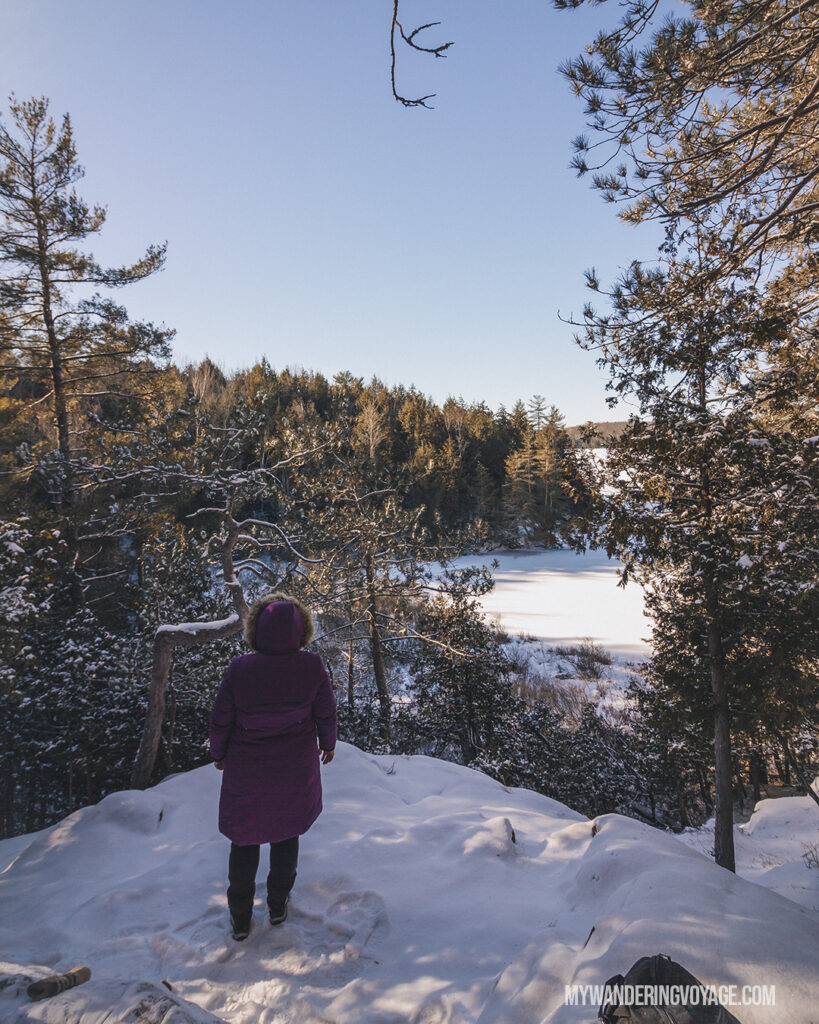 Silent Lake Provincial Park | Stellar places for snowshoeing in Ontario | My Wandering Voyage travel blog #travel #winterexercise #snowshoeing #Ontario #Canada