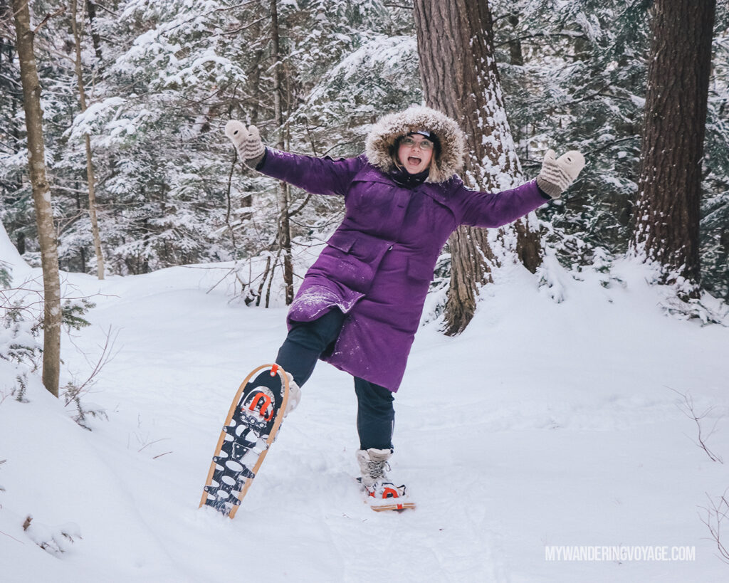 Stellar places for snowshoeing in Ontario | My Wandering Voyage travel blog #travel #winterexercise #snowshoeing #Ontario #Canada