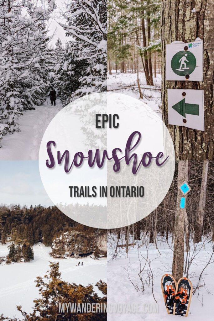 Looking to take up a new activity this winter? Try snowshoeing in Ontario. There are so many great snowshoeing trails in Ontario to explore. | My Wandering Voyage travel blog #travel #winterexercise #snowshoeing #Ontario #Canada