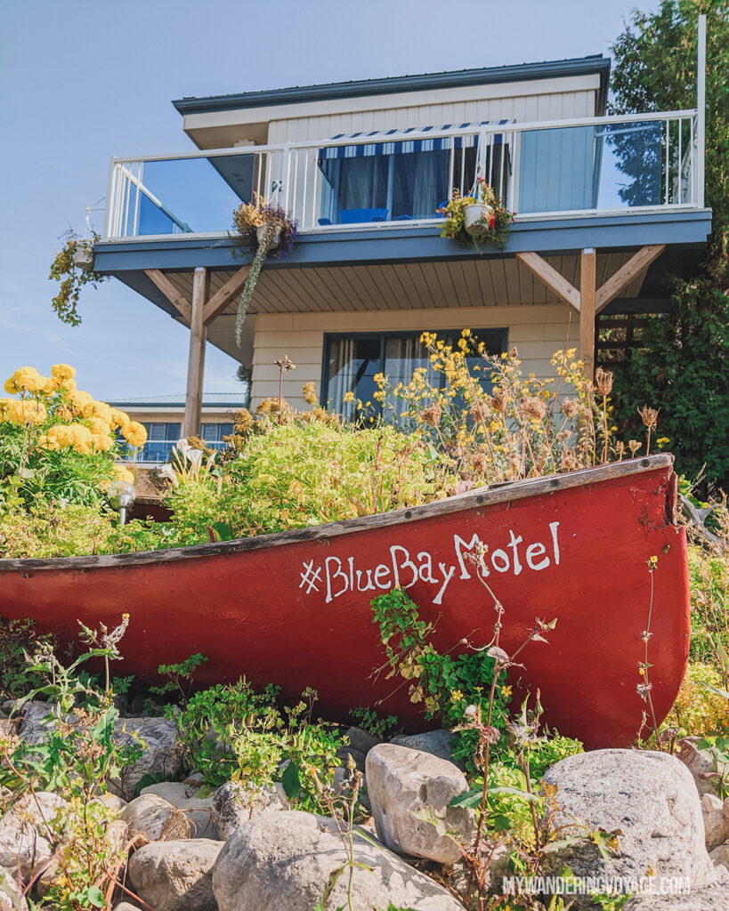 Blue Bay Motel Tobermory | The Complete guide to camping on Flowerpot Island | My Wandering Voyage travel blog #FlowerpotIsland #Tobermory #BrucePeninsula #Ontario #Canada #Travel #Camping
