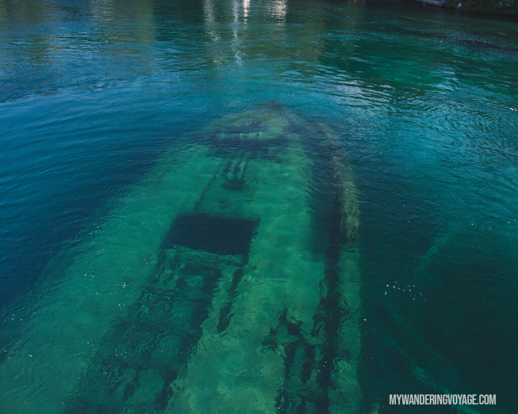 Sweepstakes Shipwreck Big Tub Harbour | The Complete guide to camping on Flowerpot Island | My Wandering Voyage travel blog #FlowerpotIsland #Tobermory #BrucePeninsula #Ontario #Canada #Travel #Camping
