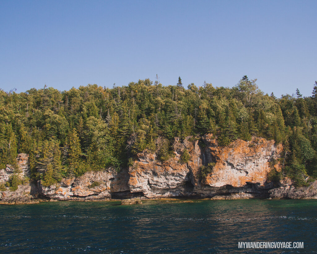 Fathom Five National Marine Park | The Complete guide to camping on Flowerpot Island | My Wandering Voyage travel blog #FlowerpotIsland #Tobermory #BrucePeninsula #Ontario #Canada #Travel #Camping