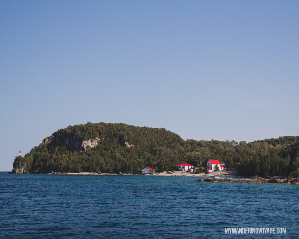 Lighthouses on Flowerpot Island | The Complete guide to camping on Flowerpot Island | My Wandering Voyage travel blog #FlowerpotIsland #Tobermory #BrucePeninsula #Ontario #Canada #Travel #Camping