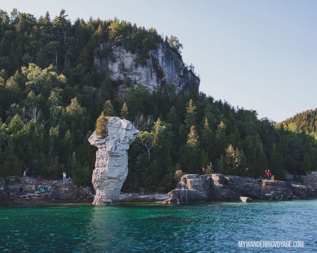 Large flowerpot on Flowerpot Island | The Complete guide to camping on Flowerpot Island | My Wandering Voyage travel blog #FlowerpotIsland #Tobermory #BrucePeninsula #Ontario #Canada #Travel #Camping