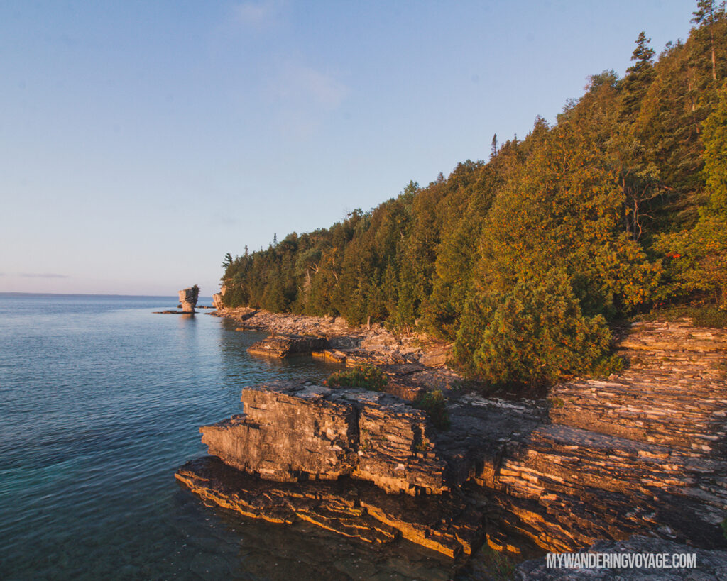 Small flowerpot on Flowerpot Island | The Complete guide to camping on Flowerpot Island | My Wandering Voyage travel blog #FlowerpotIsland #Tobermory #BrucePeninsula #Ontario #Canada #Travel #Camping