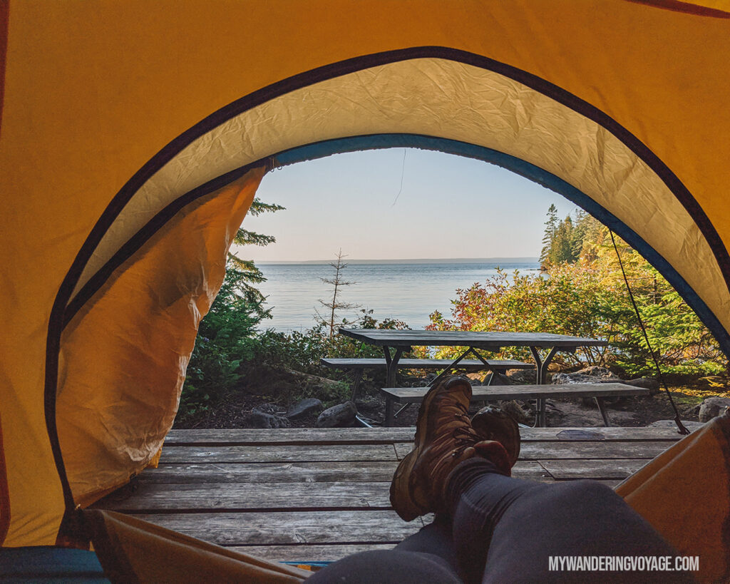 Flowerpot Island Camping | The Complete guide to camping on Flowerpot Island | My Wandering Voyage travel blog #FlowerpotIsland #Tobermory #BrucePeninsula #Ontario #Canada #Travel #Camping