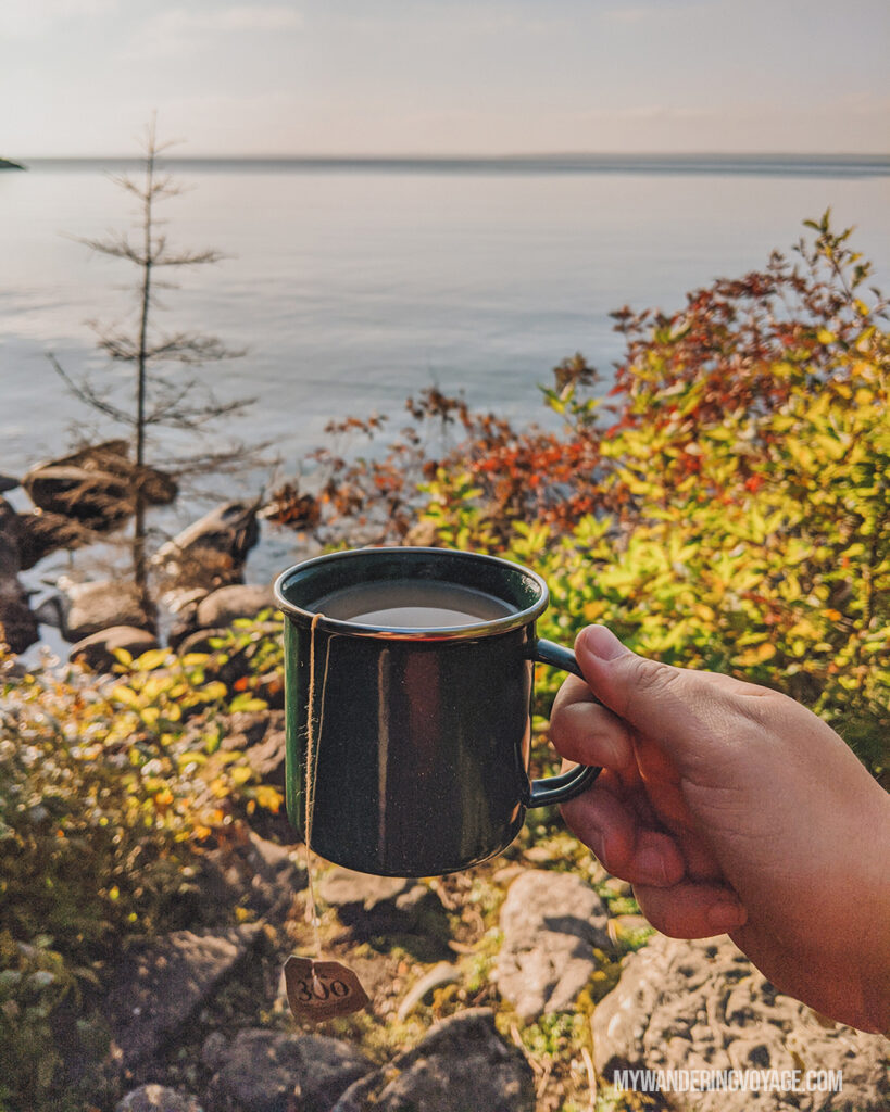 Boil water on Flowerpot Island | The Complete guide to camping on Flowerpot Island | My Wandering Voyage travel blog #FlowerpotIsland #Tobermory #BrucePeninsula #Ontario #Canada #Travel #Camping