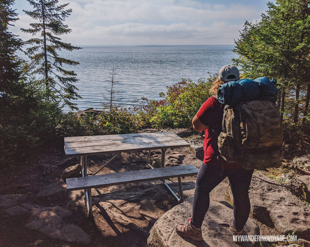 Back country camping on Flowerpot Island | The Complete guide to camping on Flowerpot Island | My Wandering Voyage travel blog #FlowerpotIsland #Tobermory #BrucePeninsula #Ontario #Canada #Travel #Camping