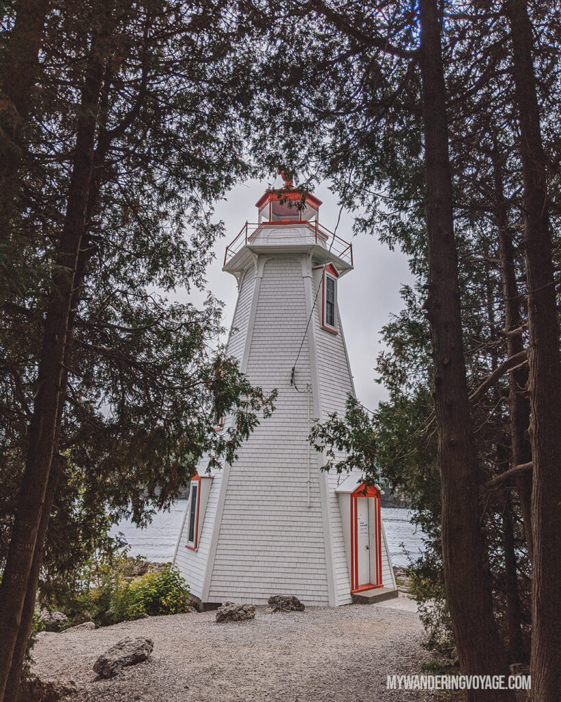 Big Tub Lighthouse | The Complete guide to camping on Flowerpot Island | My Wandering Voyage travel blog #FlowerpotIsland #Tobermory #BrucePeninsula #Ontario #Canada #Travel #Camping