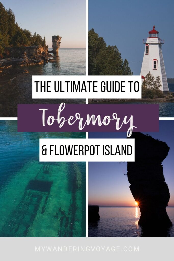 See the stars and watch the sunrise on Flowerpot Island near Tobermory, Ontario. Flowerpot Island lets you have the island (almost) entirely to yourself. This guide aims to give you everything you need to know to have an incredible experience in Tobermory and Flowerpot Island. | My Wandering Voyage travel blog #FlowerpotIsland #Tobermory #BrucePeninsula #Ontario #Canada #Travel #Camping
