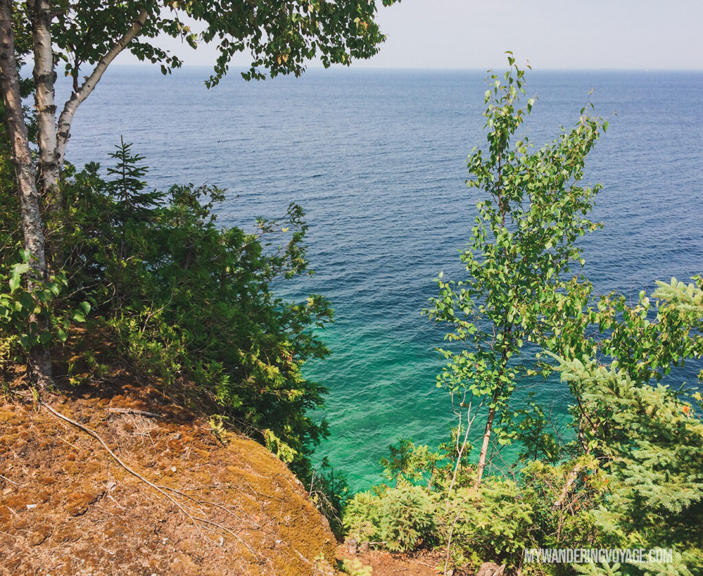 Swimming on Flowerpot Island | The Complete guide to camping on Flowerpot Island | My Wandering Voyage travel blog #FlowerpotIsland #Tobermory #BrucePeninsula #Ontario #Canada #Travel #Camping