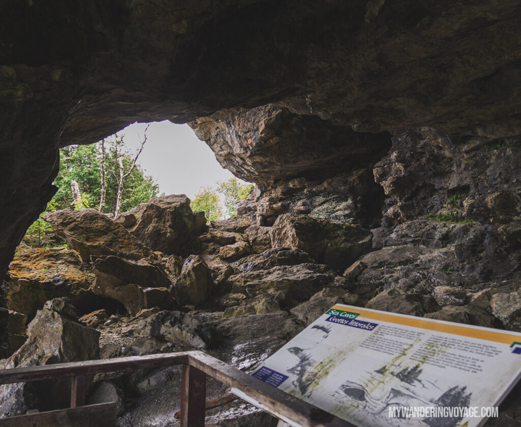 Caves on Flowerpot Island | The Complete guide to camping on Flowerpot Island | My Wandering Voyage travel blog #FlowerpotIsland #Tobermory #BrucePeninsula #Ontario #Canada #Travel #Camping