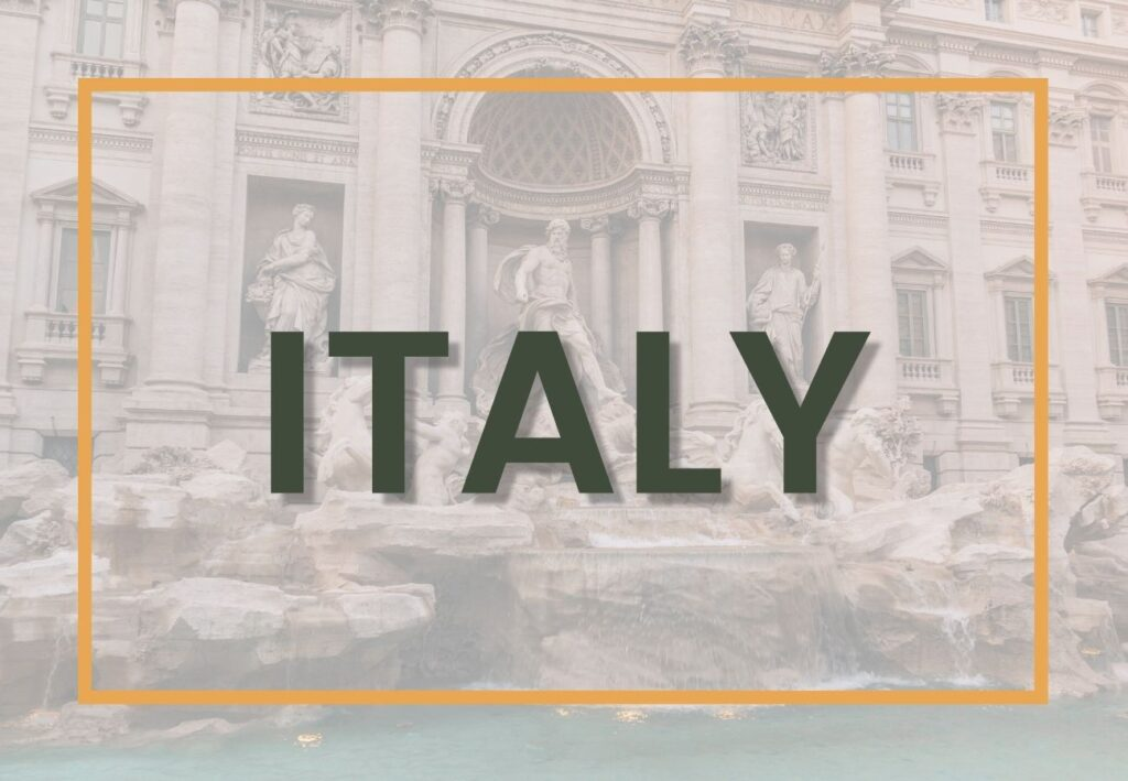 Best things to do in Italy | Italy Destination Graphic