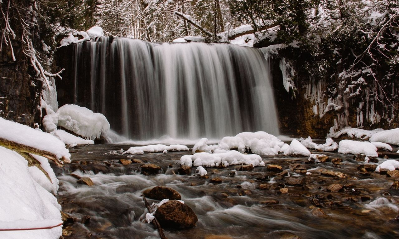 Check out these incredible Grey County Waterfalls in Winter