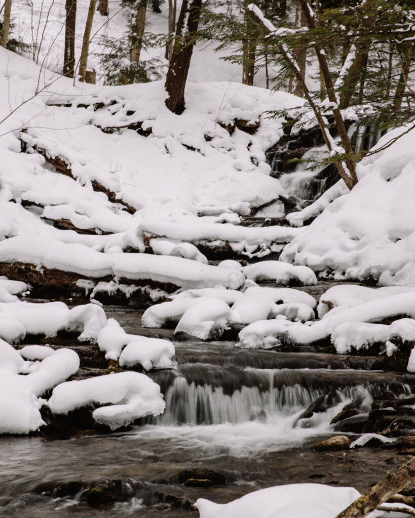 Weaver's Creek waterfall, Owen Sound | Check out these incredible Grey County waterfalls in the Winter | My Wandering Voyage travel blog #Wintertravel #WinterWaterfalls #Waterfall #Ontario #Canada #Travel