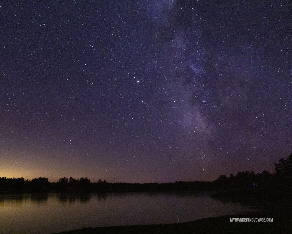 Dark Sky at Grundy Lake Provincial Park | Best places to go camping in Ontario | My Wandering Voyage travel blog