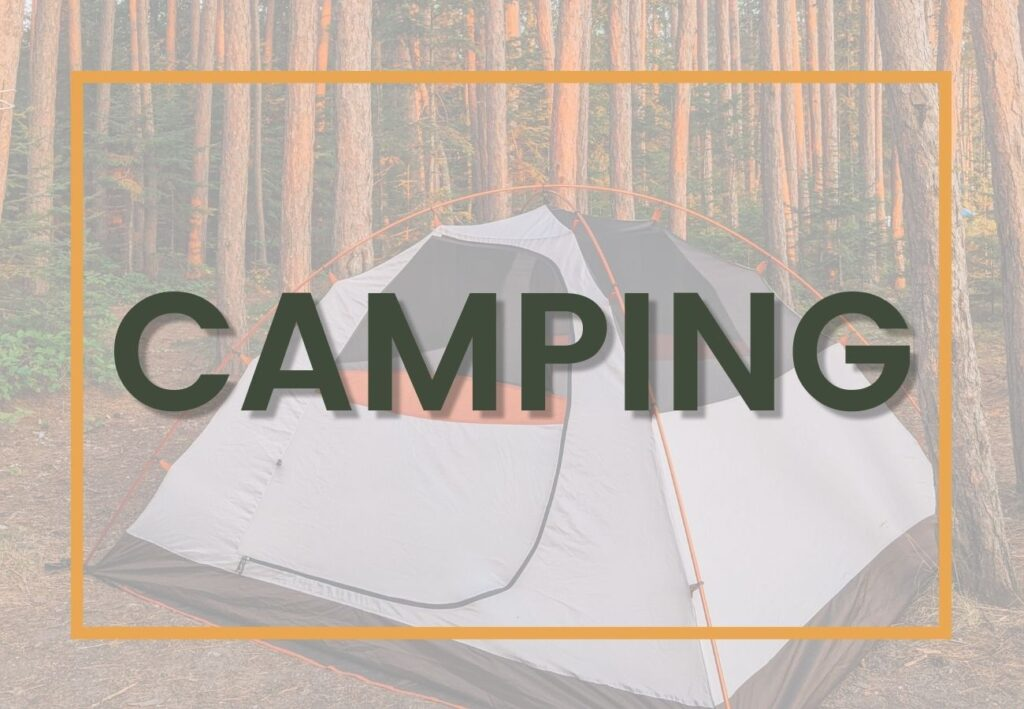 Outdoor adventure camping graphic