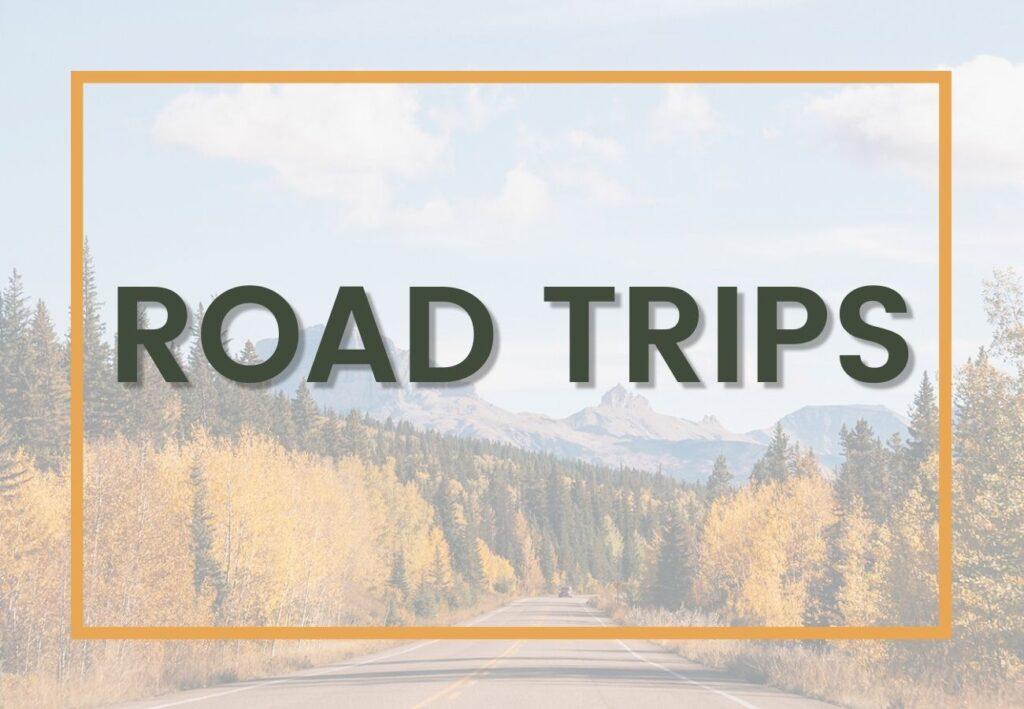 outdoor adventure road trips graphic