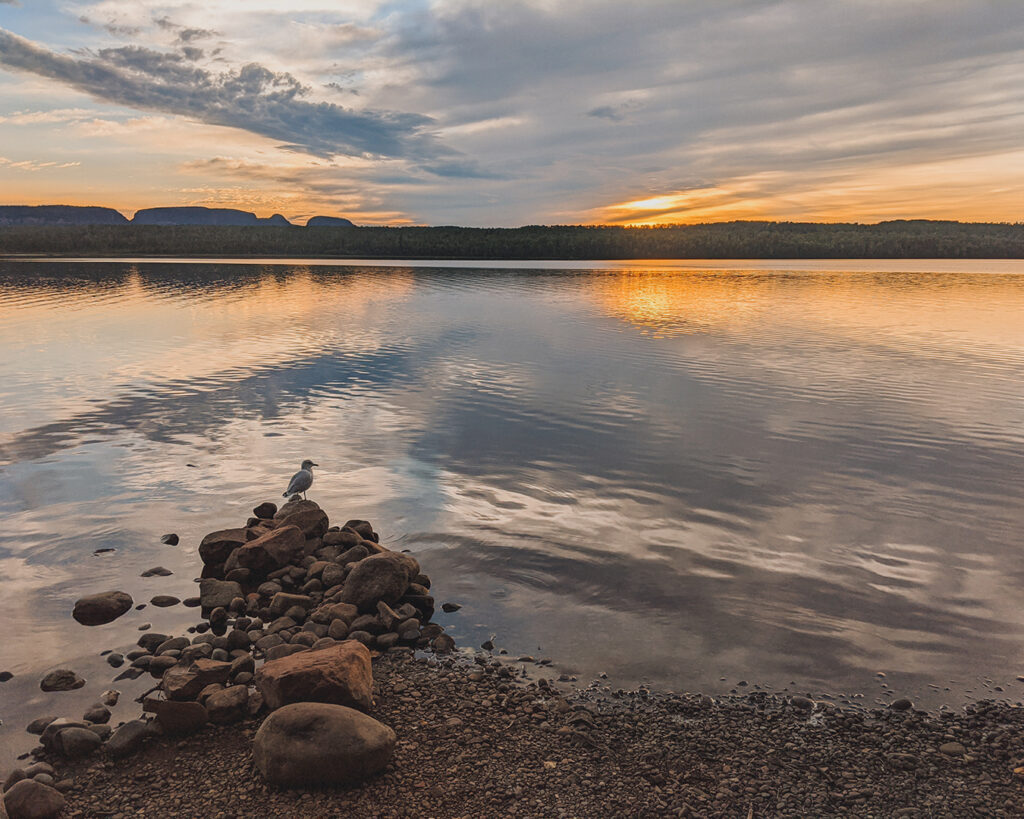 The view of Sleeping Giant from the campground | Best places to go camping in Ontario | My Wandering Voyage travel blog