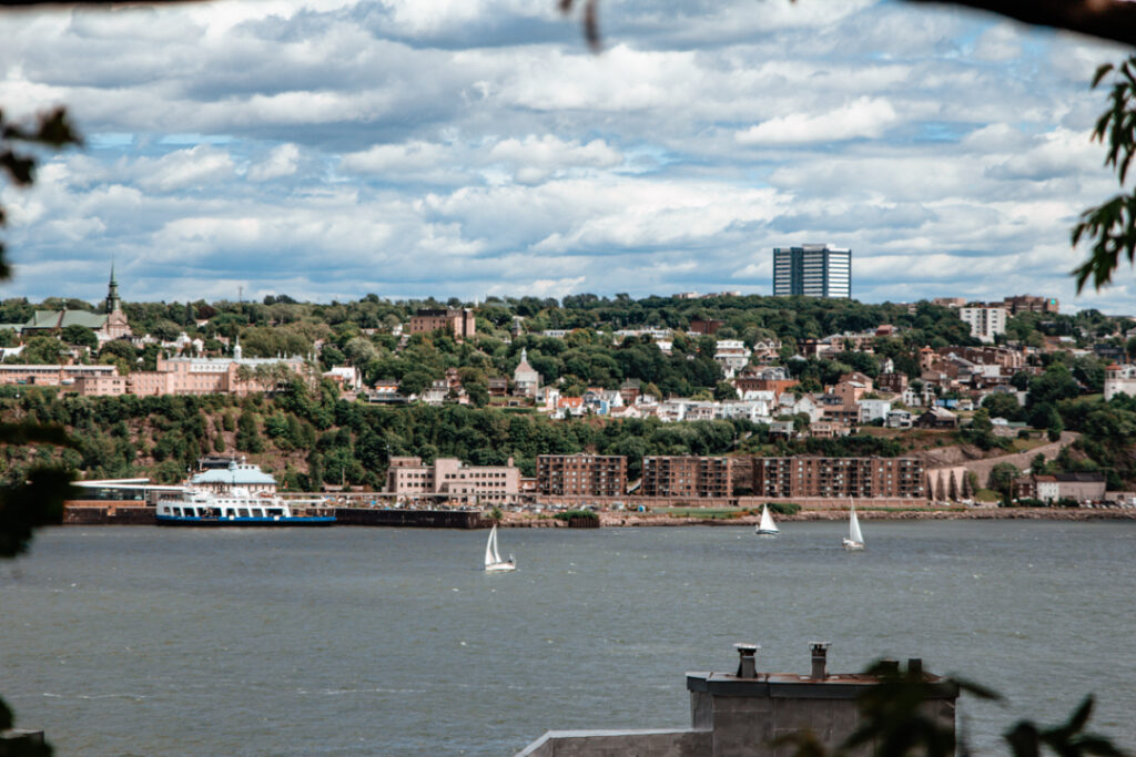 View of the St Lawrence River from Quebec City   Weekend Itinerary: Best Things to do in Quebec City   My Wandering Voyage travel blog  #Quebec #QuebecCity #Canada #Travel