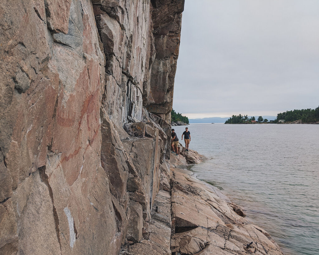 agawa pictographs, lake superior provincial park | Best Hikes in Ontario | My Wandering Voyage travel blog