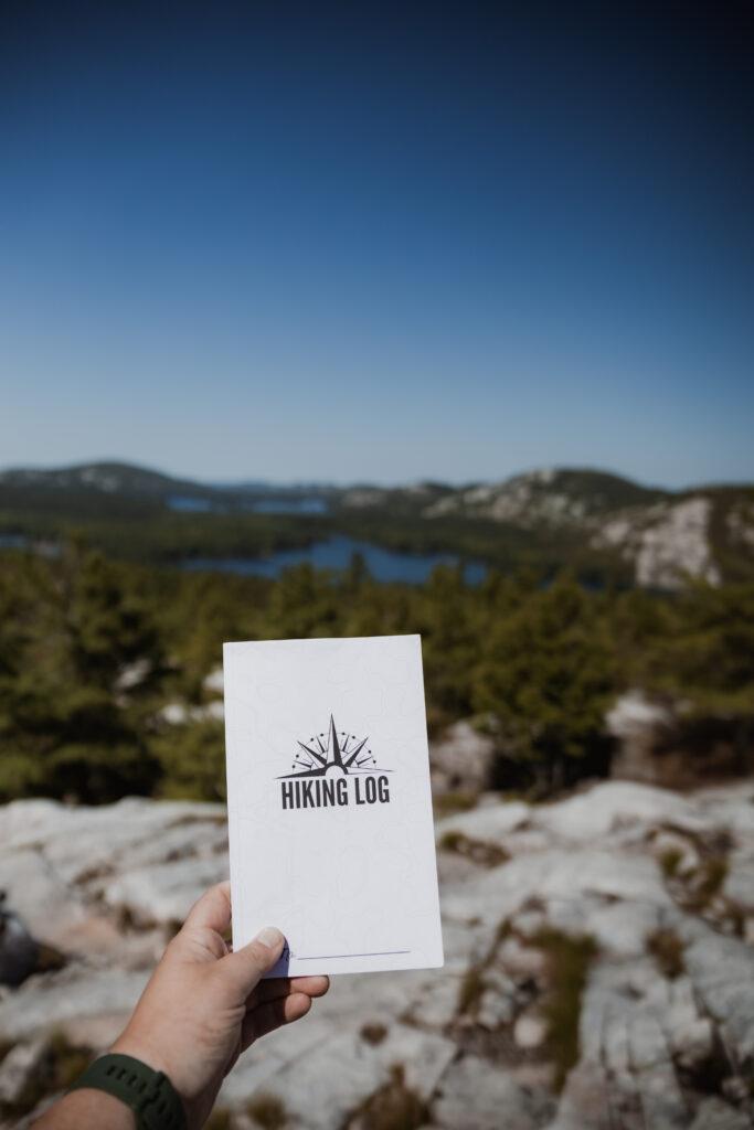hiking log book | Best Hikes in Ontario | My Wandering Voyage travel blog